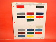 1955 1956 CHEVROLET PICKUP TRUCK SUBURBAN CAMEO BROCKWAY AUTOCAR PAINT CHIPS