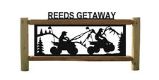 ATVS AND 4 WHEELERS-MOUNTAIN SCENES-CLINGERMANS LOG SIGNS #ATV15401