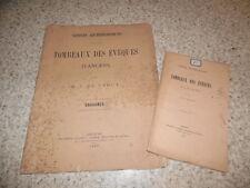 1877.Tombeaux des évêques d'Angers.Texte + atlas.Farcy