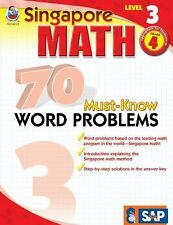 WORKBOOK: Singapore Math: 70 Must-know Word Problems, Level 3 by Not Available
