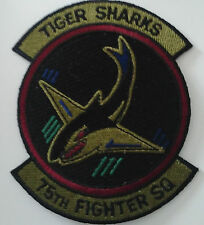 "Patch écusson 75th Fighter Squadron ""Tiger Sharks"""