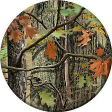 """Hunting Camo Birthday Party Supplies 9"""" Large Dinner Plates"""