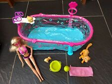 BARBIE PUPPY SWIM SCHOOL POOL, DOGGIE PARK, POTTY TRAINING PUPS DOGS DOLLS