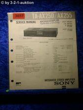 Sony Service Manual TA AX250 / AX255 Amplifier (#3657)