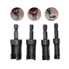 4 Pcs 1/4 Hex Shank Wood Plug Hole Saw Cutter Dowel Barrel Drill Bit 6mm-13mm