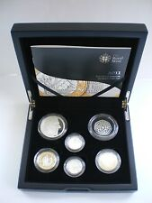 2011 Royal Mint Silver Proof PIEDFORT Coin Set Mary Rose James Bible Cities £1