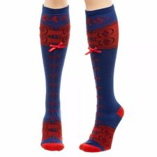 DC Comics Harley Quinn Suit Lace Up Knee High Socks