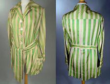 WWI Era_20s Vintage Stripe Silk Gardening or Sporting Jacket_Badminton Anyone?