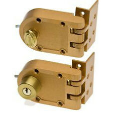 Kaba Ilco 530-53-41 Single Cylinder Jimmyproof Deadbolt Lock in Bronze Lacquer