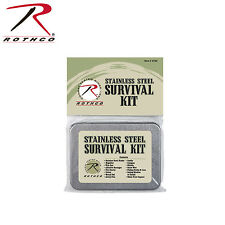 2720 Rothco Stainless Steel Survival Kit With Compass, Whistle And Sewing Kit