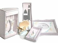 8pc Life's a Beach Collection wedding set knife glasses pen guest book cake top