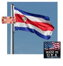 COSTA RICA 3x5 Foot Heavy Duty Super-Poly Indoor/Outdoor FLAG Banner*USA MADE