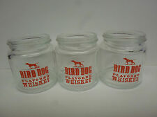3 Bird Dog Flavored Shot Glasses Whiskey Mini-Mason Jar Shape NEW