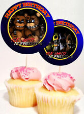 12 Birthday Five Nights at Freddy's Inspired Party Picks, Cupcake Toppers #1