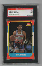 Jeff Malone 1986 1987 Fleer signed auto autographed card SGC Certified