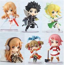 Sword Art Online Action Figure 6pcs Asuna with Sword PVC Figures set collection