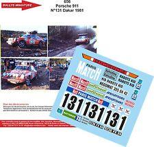 DÉCALS 1/24 réf 656 Porsche 911 N131 Dakar 1981