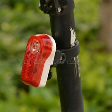 Cycling Bike Bicycle Rear Light Bright 3 Red LED Safety Taillight Lamp 2 Modes