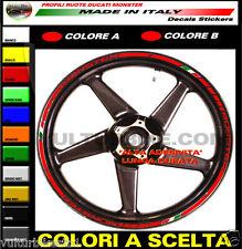 adesivi profili ruote Ducati Monster strisce adesive per cerchi strips wheels