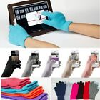 Unisex Solid Knitted Hot Magic Touch Screen Gloves For IPhone6 IPad Samsung etc