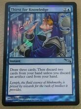 MTG Magic the Gathering Mirrodin Thirst for Knowledge  FOIL!  Mint!