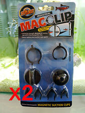 Zoo Med Mag Clip (Magnet Suction Cups) for aquarium filter applications x2pack