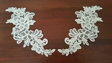 FRENCH LACE EMBROIDERED MOTIF, APPLIQUE, TRIM IN IVORY COLOUR