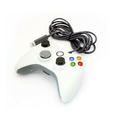 Blanco Nuevo Usb Wired Controller Para Microsoft Xbox 360 Pc Windows vendedor Reino Unido