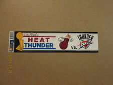 NBA Heat vs. OKC Thunder The Finals Bumper Sticker