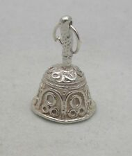 STERLING SILVER HAND BELL CHARM