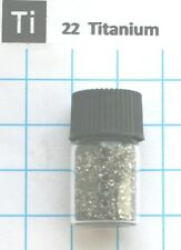 2 gram Titanium metal fine granulate 99.9% in glass vial - Element 22 sample