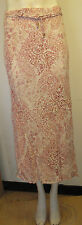 Principles cream & salmon paisley print  long floaty skirt size 14 fully lined