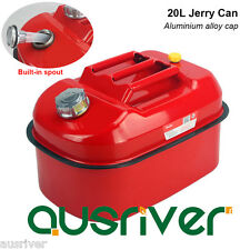 20L Portable Jerry Can Built-in Spout for Boat/4WD/Car/Camping Petrol/Fuel Red