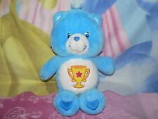 """13"""" PLUSH BLUE CHAMP CARE BEAR TROPHY CUP STAR BABY BOY GIRL COLLECTIBLE TOY"""
