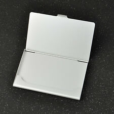 Business ID Credit Card Case Metal Fine Box Holder silver Stainless Steel Pocket
