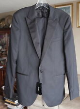 BNWT New mens US 38 L Hugo Boss black gray tuxedo blazer jacket coat suit pants