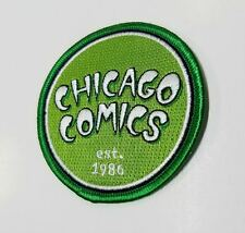 "Chicago Comics Exclusive Green ""Established"" Iron On Embroidered Applique Patch!"