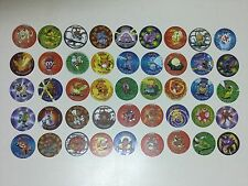 COMPLETE COLLECTION 45 POKEMON TAZOS/POGS - SERIE ATTACK - SPANISH VERSION