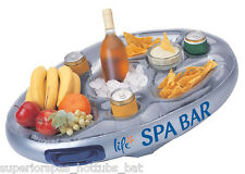 Inflatable Hot Tub Spa Bar Spas Floating Drinks and Food Holder Tray Life Range
