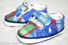 POLO RALPH LAUREN Infant Baby Sz 1 Plaid Velcro Shoe
