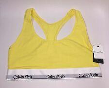 NWT CK Calvin Klein Modern Cotton Bralette Bras F3785 Yellow Size L Large