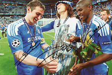 FRANK LAMPARD, DAVID LUIZ & RAMIRES Signed 12x8 Photo CHELSEA Legends COA