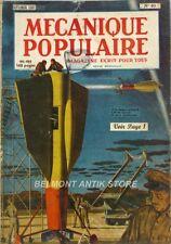 Mécanique Populaire n°40 - 1949 - Chemin de fer sous lac - Céramique - Voiles