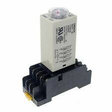 110V H3Y-4 Power On Time Delay Relay Solid-State Timer 1~30Min 4PDT 14Pin&Socket