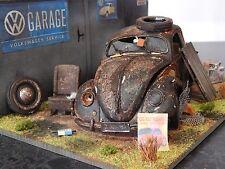 """1/18 VW BEETLE BARN FIND DIORAMA CODE 3 JUNK YARD """"ANDREW GREEN"""" VOLKSWAGEN"""