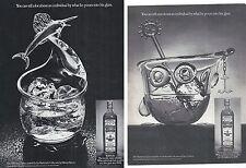 Bushmills Scotch Whiskey Lot of 2 Magazine Ads Fisherman Yachtsman Glass