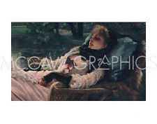 "TISSOT JACQUES-JOSEPH-THE DREAMER, OF SUMMER EVENING,CA. 1881-ART 11""X14""(722 )"