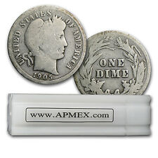 90% Silver Barber Dimes - $5 Face Value Roll - 90 Percent Silver