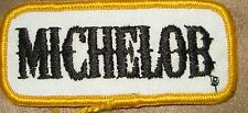 MICHELOB BUD COLLECTABLE RARE VINTAGE PATCH EMBROIDED 90'S ANHEUSER BUSCH  BOW