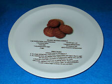 "Ceramic Peanut Butter Cookie Recipe Plate--10 3/4""  NEW"